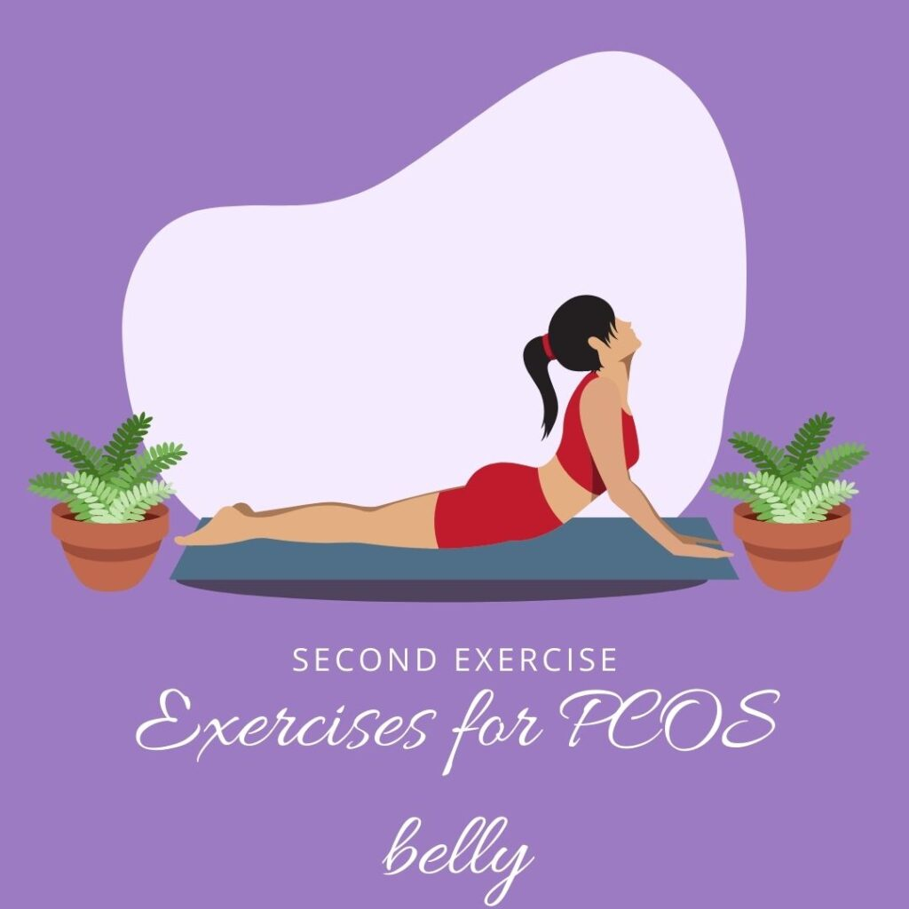 what does a pcos belly look like